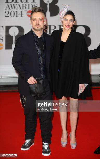 Singer Boy George attends The BRIT Awards 2014 at 02 Arena on February 19 2014 in London England