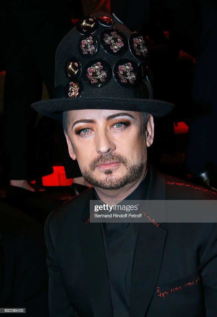 Singer Boy George attends the Dior Homme Menswear Fall/Winter 2017-2018 show as part of Paris Fashion Week on January 21, 2017 in Paris, France.