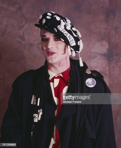 Singer Boy George of British new romantic group Culture Club London 1987