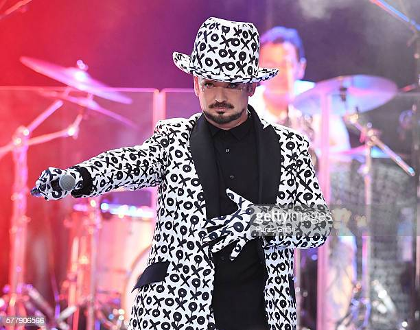 Singer Boy George of Culture Club performs at Chastain Park Amphitheater on July 19 2016 in Atlanta Georgia