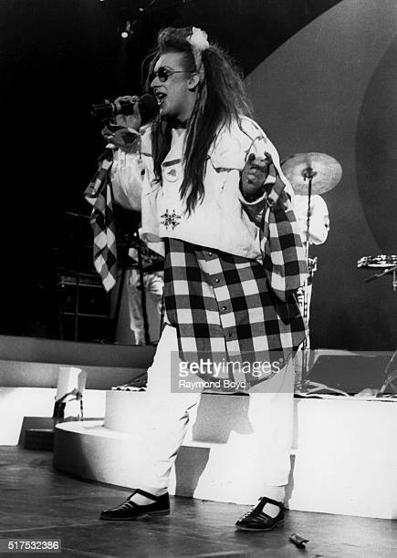 Singer Boy George from Culture Club performs at MECCA Arena in Milwaukee Wisconsin in 1984