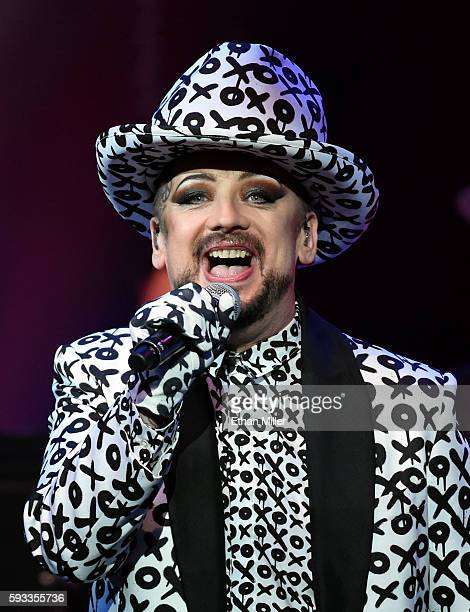 Singer Boy George of Culture Club performs at The Pearl concert theater at Palms Casino Resort on August 21 2016 in Las Vegas Nevada