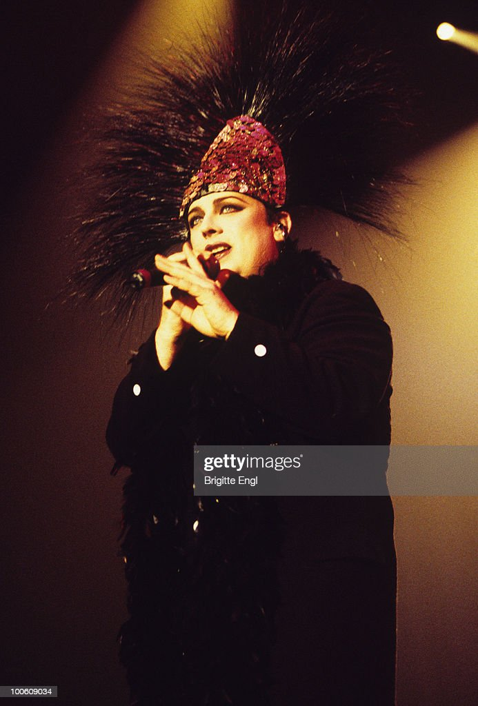 Singer Boy George of Culture Club performs on stage in 1999.