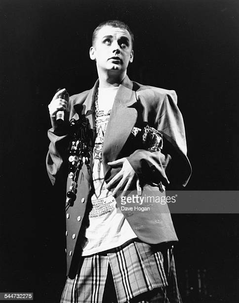 Singer Boy George performing on stage at the London Palladium December 15th 1988