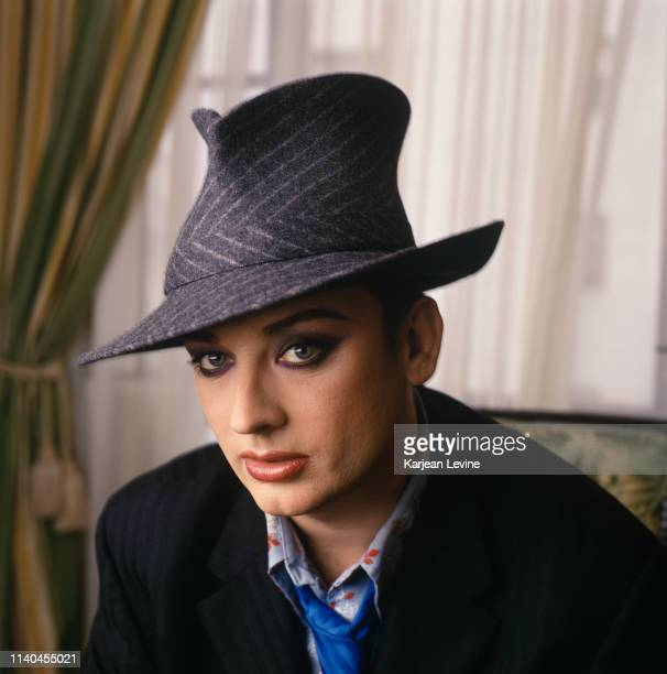 Singer Boy George poses for a portrait to promote Culture Club's reunion tour on April 29, 1998 in New York City, New York.