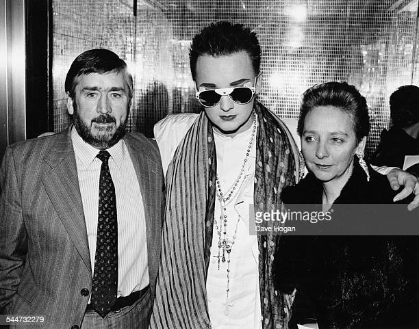 Singer Boy George with his parents Mr and Mrs O'Dowd March 26th 1985