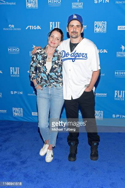 Singer Brad Paisley and Kimberly WilliamsPaisley attend the 7th annual Ping Pong 4 Purpose celebrity tournament fundraiser at Dodger Stadium on...