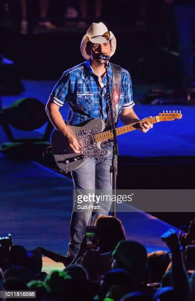 Singer Brad Paisley performs at Watershed Festival at Gorge Amphitheatre on August 5 2018 in George Washington