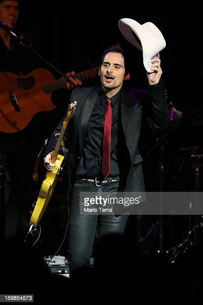Singer Brad Paisley performs during the Inaugural Ball at the Walter E. Washington Convention Center on January 21, 2013 in Washington, DC. U.S....