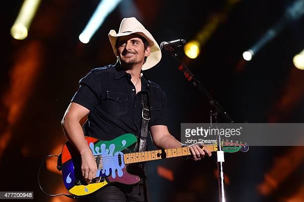 Singer Brad Paisley performs onstage during the 2015 CMA Festival on June 14 2015 in Nashville Tennessee