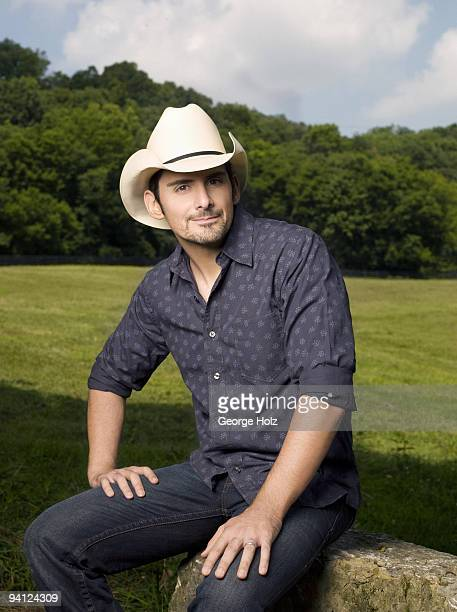 Singer Brad Paisley poses at a portrait session for People Magazine on September 14 2009 in Franklin Tennessee
