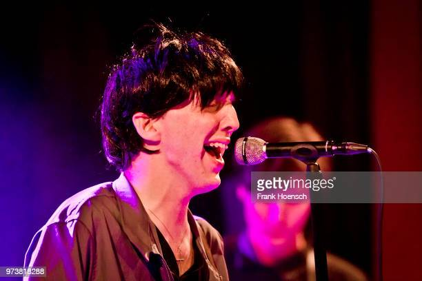 Singer Bradford Cox of the American band Deerhunter performs live on stage during a concert at the Festsaal Kreuzberg on June 13 2018 in Berlin...