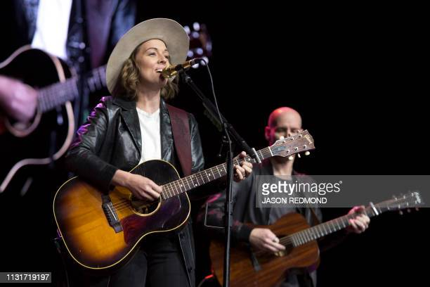 Singer Brandi Carlile performs at the Annual Meeting of Shareholders in Seattle Washington on March 20 2019
