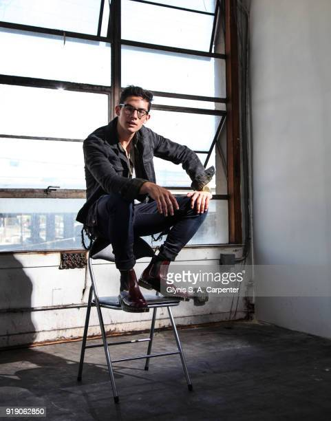 Singer Brandon Arreaga poses for a portrait on April 23 2017 in New York City