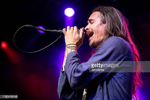 Singer Brandon Boyd of Incubus performs at The Fillmore on December 06 2019 in Charlotte North Carolina