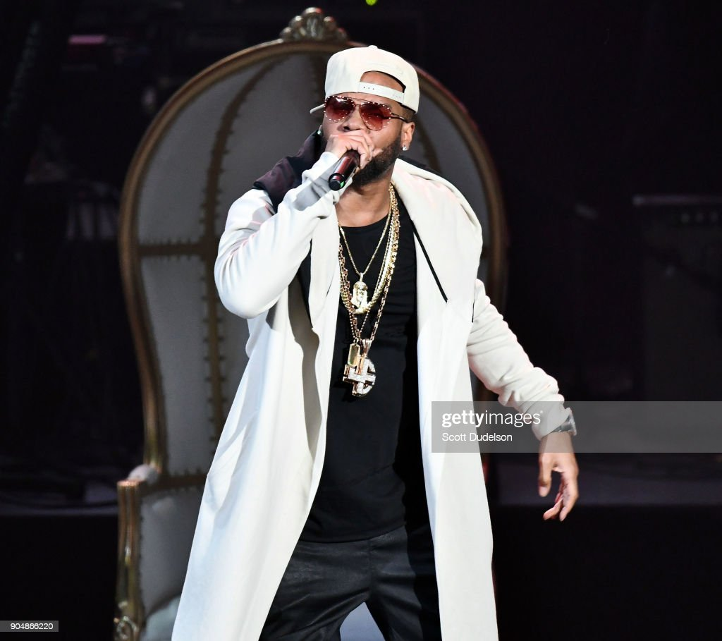 Singer Brandon Casey of the R&B group Jagged Edge performs onstage at Microsoft Theater on January 13, 2018 in Los Angeles, California.