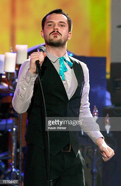 Singer Brandon Flowers of the group The Killers performs onstage during the VH1 Big in '06 Awards held at Sony Studios on December 2 2006 in Culver...