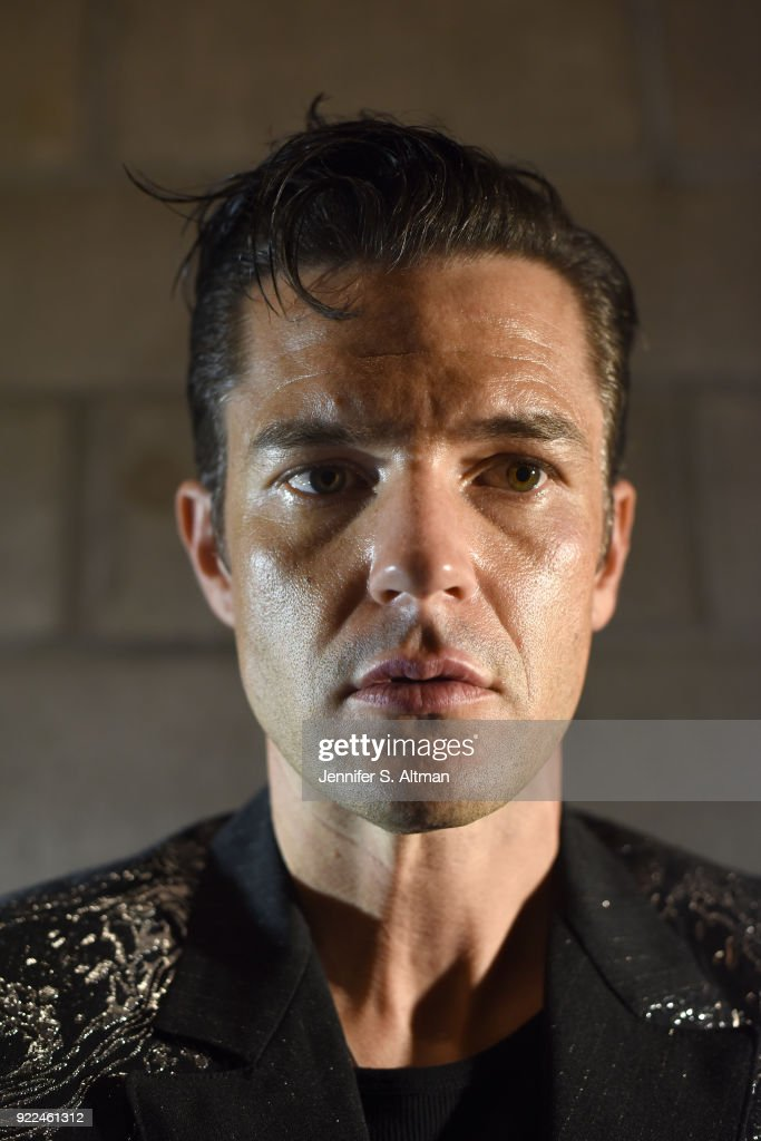 Singer Brandon Flowers of The Killers is photographed for Los Angeles Times on September 19, 2017 in New York City.