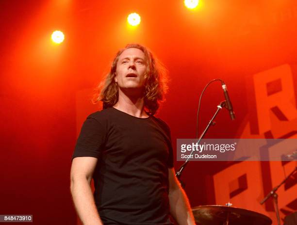 Singer Brandon Jordan performs onstage during the second annual Rock to Recovery benefit concert at The Fonda Theatre on September 16 2017 in Los...