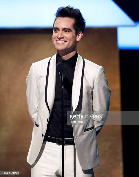 Singer Brandon Urie speaks onstage at the Premiere Ceremony during the 59th GRAMMY Awards at Microsoft Theater on February 12 2017 in Los Angeles...