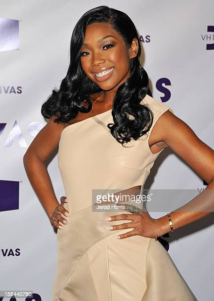 Singer Brandy arrives at VH1 Divas 2012 held at The Shrine Auditorium on December 16 2012 in Los Angeles California
