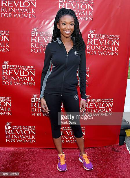 Singer Brandy attends the 21st Annual EIF Revlon Run Walk For Women at Los Angeles Memorial Coliseum on May 10 2014 in Los Angeles California