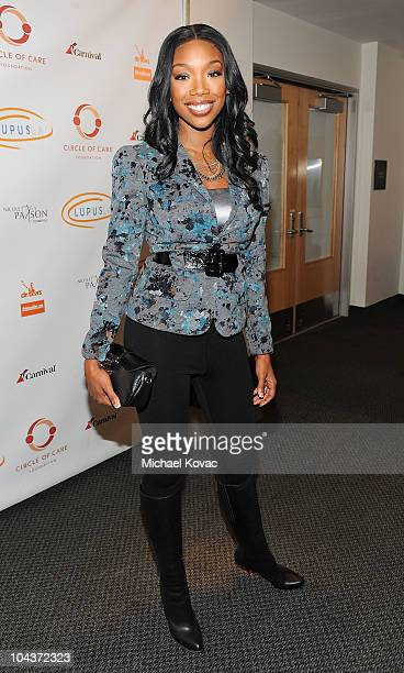 """Singer Brandy attends the 2nd Annual """"Get Lucky For Lupus!"""" Benefit hosted by Lupus LA at Petersen Automotive Museum on September 22, 2010 in Los..."""