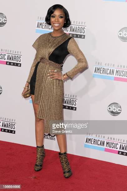 Singer Brandy attends the 40th Anniversary American Music Awards held at Nokia Theatre L.A. Live on November 18, 2012 in Los Angeles, California.