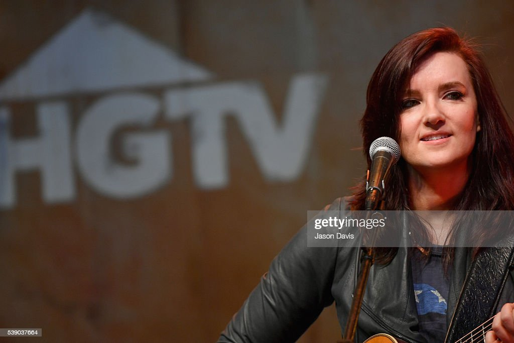 Singer Brandy Clark performs on stage at the HGTV Lodge at CMA Music Fest on June 9, 2016 in Nashville, Tennessee.