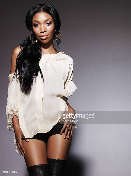 Singer Brandy Is Photographed For Ebony Magazine On October   In New York City