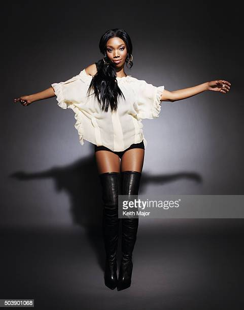 Singer Brandy is photographed for Ebony Magazine on October 28 2008 in New York City