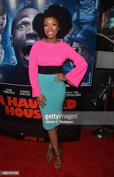 Singer Brandy Norwood arrives to the premiere of Open Road Films' 'A Haunted House 2' at Regal Cinemas LA Live on April 16 2014 in Los Angeles...