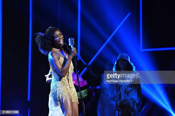 Singer Brandy performs onstage at Black Girls Rock 2016 on April 1 2016 in Newark City