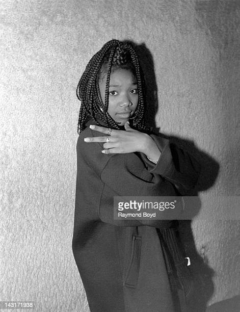 Singer Brandy poses for photos at the Park West Theater in Chicago Illinois in JANUARY 1995