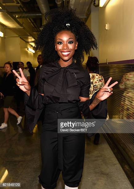 Singer Brandy seen backstage during the 2016 Soul Train Music Awards on November 6 2016 in Las Vegas Nevada
