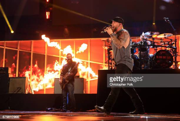 Singer Brantley Gilbert performs onstage during the 2017 iHeartCountry Festival A Music Experience by ATT at The Frank Erwin Center on May 6 2017 in...