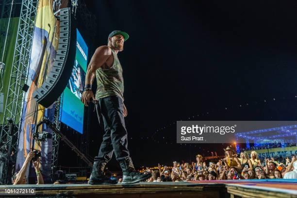 Singer Brantly Gilbert performs at Watershed Festival at Gorge Amphitheatre on August 4 2018 in George Washington