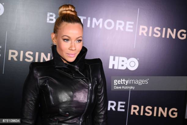 Singer Brave Williams arrives at the premiere of HBO Documentary 'Baltimore Rising' on November 16 2017 in Baltimore Maryland