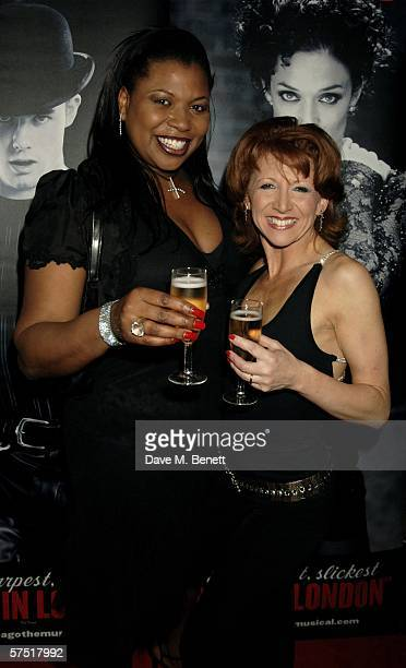 Singer Brenda Edwards and Bonnie Langford attend the Chicago The Musical celebrity party to celebrate the West End transfer of the popular musical to...
