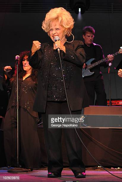 Singer Brenda Lee performs at Asser Levy Park Coney Island on July 15 2010 in the Brooklyn Borough of New York City