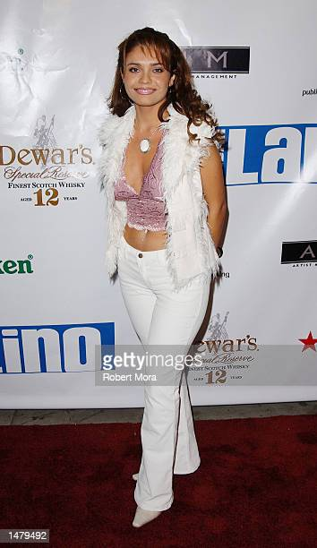 Singer Brenda Mejia attends the Urban Latino TV launch party at Club AD on October 16 2002 in Hollywood California