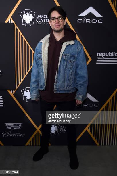 Singer Brendon Urie of Panic at the Disco attends Republic Records Celebrates the GRAMMY Awards in Partnership with Cadillac Ciroc and Barclays...