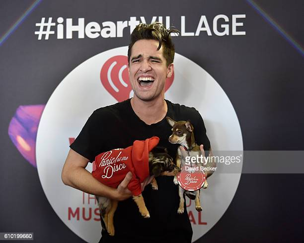 Singer Brendon Urie of Panic at the Disco attends the 2016 Daytime Village at the iHeartRadio Music Festival at the Las Vegas Village on September 24...