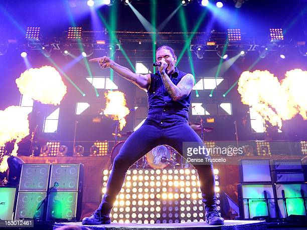 Singer Brent Smith of Shinedown performs at the Rock Vegas Music Festival at Mandalay Bay on September 28 2012 in Las Vegas Nevada