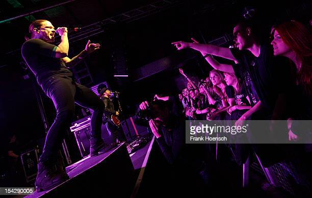 Singer Brent Smith of Shinedown performs live during a concert at the Postbahnhof on October 17 2012 in Berlin Germany