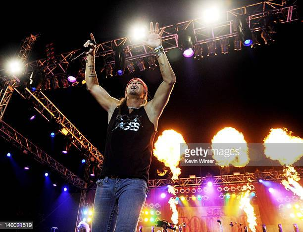 """Singer Bret Michaels of Poison performs at the after party for the premiere of Warner Bros. Pictures' """"Rock Of Ages"""" at Hollywood and Highland on..."""