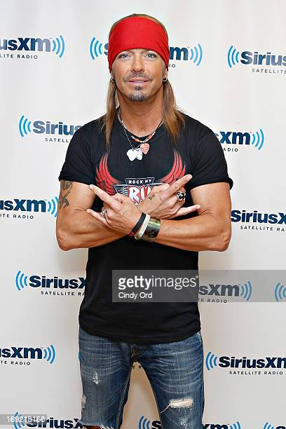 Singer Bret Michaels visits the SiriusXM Studios on May 21 2013 in New York City