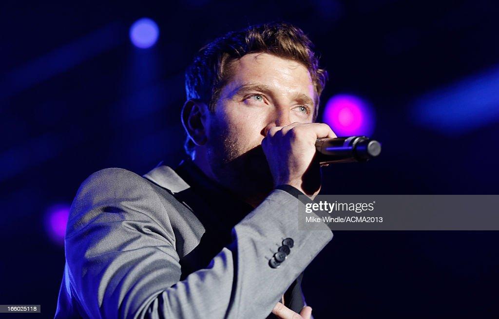 Singer Brett Eldredge performs onstage at the All Star Jam during the 48th Annual Academy Of Country Music Awards at the MGM Grand Hotel/Casino on April 7, 2013 in Las Vegas, Nevada.