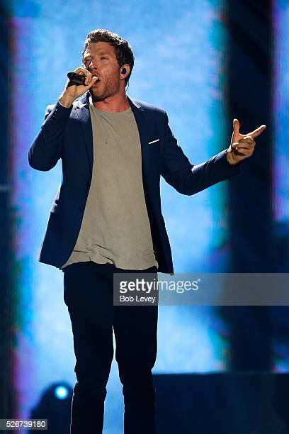Singer Brett Eldredge performs onstage during the 2016 iHeartCountry Festival at The Frank Erwin Center on April 30 2016 in Austin Texas