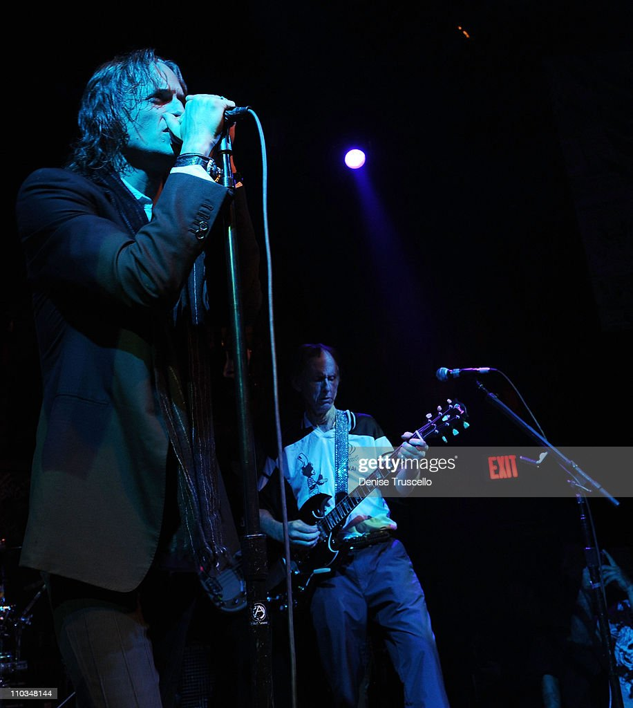 Ray Manzarek And Robby Krieger Of The Doors Perform At Waisted Space In The Hard Rock Hotel : News Photo